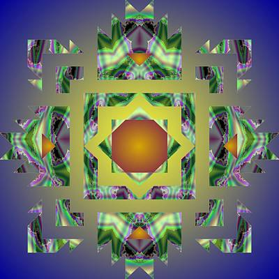 Digital Art - Psychedelic Mandala 002 A by Larry Capra