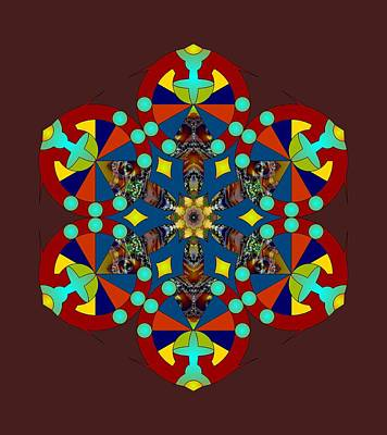 Digital Art - Psychedelic Mandala 007 A by Larry Capra
