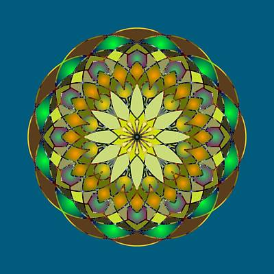 Digital Art - Psychedelic Mandala 008 A by Larry Capra