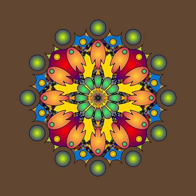 Digital Art - Psychedelic Mandala 009 A by Larry Capra