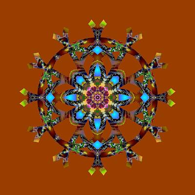 Digital Art - Psychedelic Mandala 010 A by Larry Capra