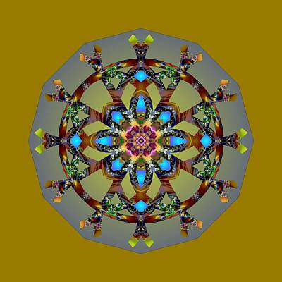 Digital Art - Psychedelic Mandala 010 B by Larry Capra