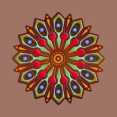 Digital Art - Psychedelic Mandala 012 A by Larry Capra