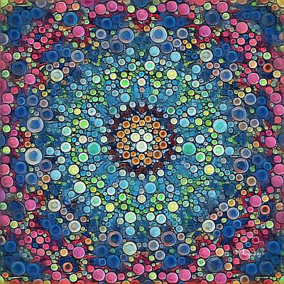 Digital Art - Psychedelic Mandala by Mike Butler