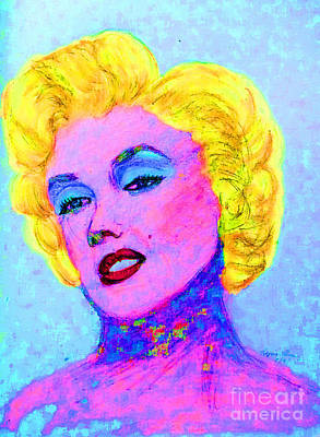 Drawing - Psychedelic Marilyn by Lyric Lucas