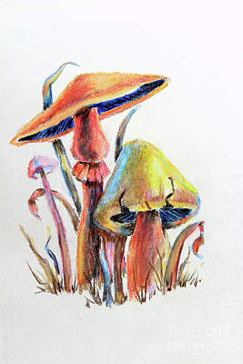 Painting - Psychedelic Mushrooms by Pattie Calfy