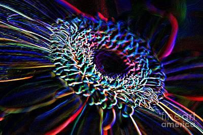 Charles Digital Art - Psychedelic Neon by Charles Dobbs