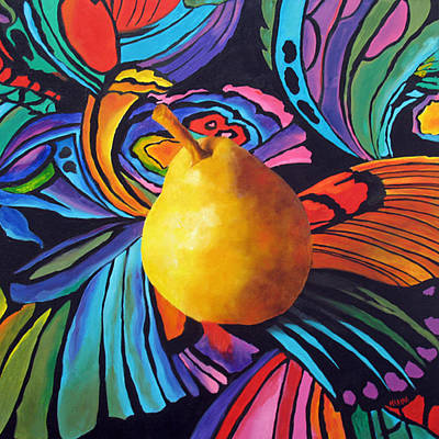 Painting - Psychedelic Pear by Marina Petro