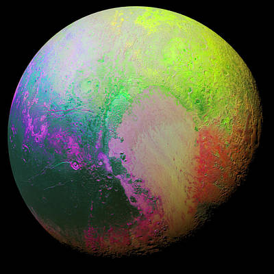 Aa Photograph - Psychedelic Pluto by Nasa
