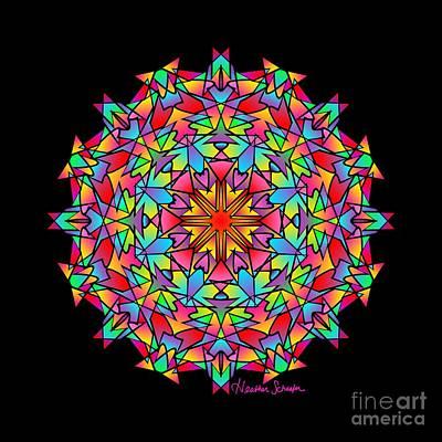 Digital Art - Psychedelic Porcupine Mandala by Heather Schaefer