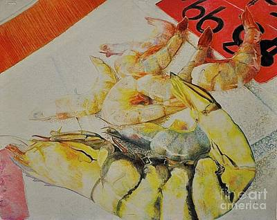 Psychedelic Shrimp Art Print
