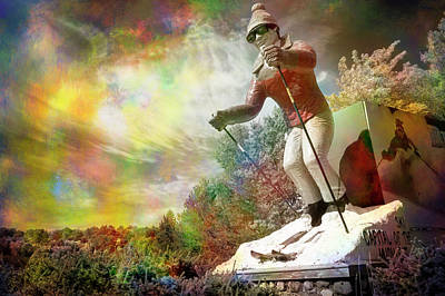 Photograph - Psychedelic Skier by Mary Lee Dereske