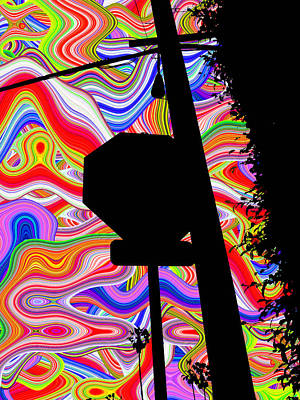 Psychedelic Sky Art Print