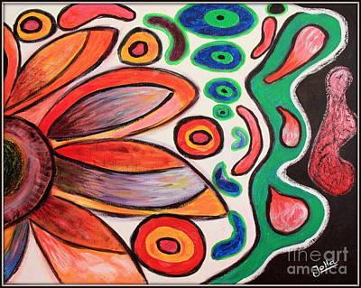 Print featuring the painting Psychedelic Summer by Jolanta Anna Karolska
