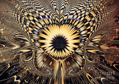 Psychedelic Sunflower  Art Print