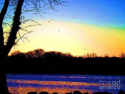 Photograph - Psychedelic Sunrise On The Delaware River by Robyn King