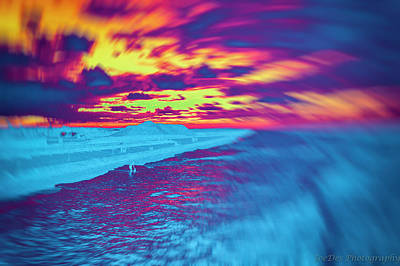 Photograph - Psychedelic Sunset by JoeDes Photography