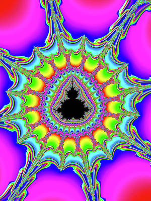 Trippy Digital Art - Psychedelic Trippy And Colorful Fractal by Matthias Hauser