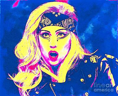 Psychedelic Version Of Lady Gaga Art Print