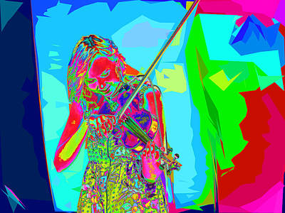 Photograph - Psychedelic Violinist by C H Apperson
