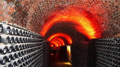 Photograph - Psychedelic Wine Cellar by Nadine Dennis