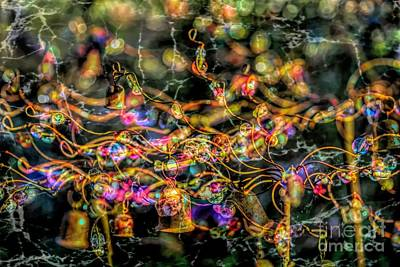 Photograph - Psychedelic Yard Art by Cathy Donohoue
