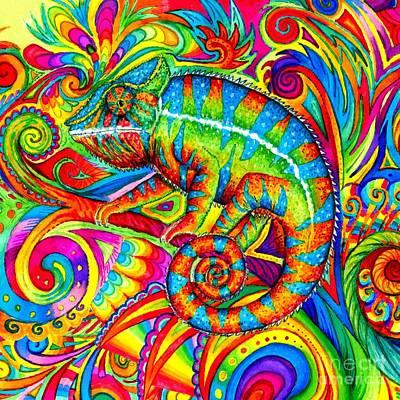 Psychedelizard Art Print