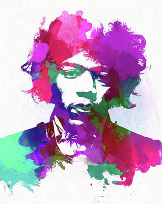 Painting - Psychedlic Hendrix by Dan Sproul