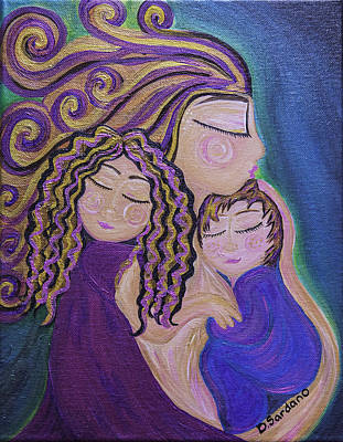 Tenderness Painting - Psychic Mother by Dana Sardano