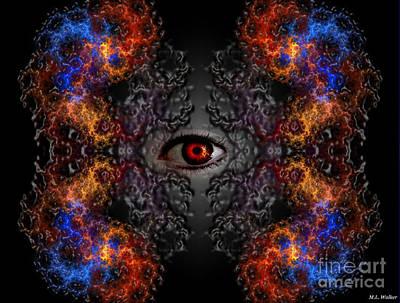Surreal Art Digital Art - Psychiceye by ML Walker