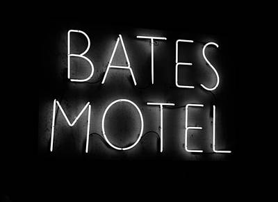 Horror Movies Photograph - Psycho In Neon by David Lee Thompson