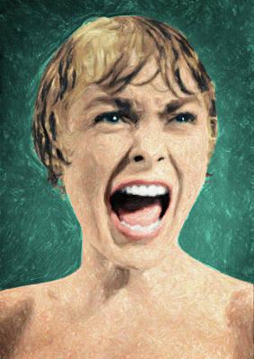 Painting - Psycho Shower Scene by Taylan Apukovska
