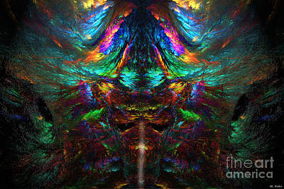 Wall Art - Mixed Media - Psychodelic Eagle by ML Walker