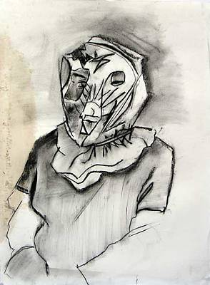 Brad Wilson Drawing - Psychological Mask by Brad Wilson