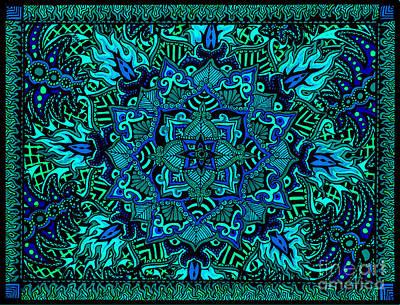 Psyformation Green Hue Art Print