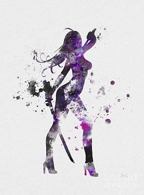 Psylocke Print by Rebecca Jenkins
