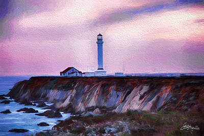 Jacques Digital Art - Pt. Arena Lighthouse by Jacque The Muse Photography