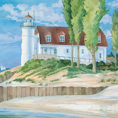 Lookout Painting - Pt. Betsie Lighthouse by Paul Brent