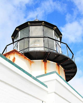Bonita Point Photograph - Pt Bonitas Lighthouse Ca by Wingsdomain Art and Photography