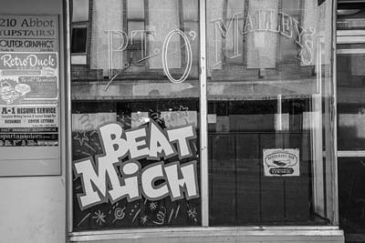 Photograph - Pt Omalley's Bar Window Black And White  by John McGraw