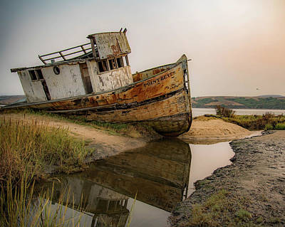Photograph - Pt. Reyes Shipwreck 2 by Wendy Carrington