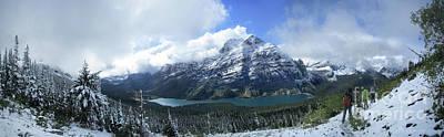1920s Flapper Girl - Ptarmigan Trail Overlooking Elizabeth Lake 5 - Glacier National Park by Bruce Lemons