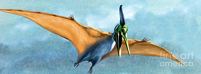 Soaring Painting - Pterosaur Prehistoric Bird by David Nockels