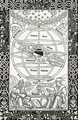 Ptolemy Drawing - Ptolemy S System Explained By Johannes by Vintage Design Pics