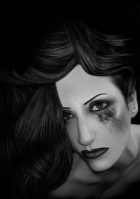 Ptsd Photograph - Ptsd Overload - Self Portrait by Jaeda DeWalt