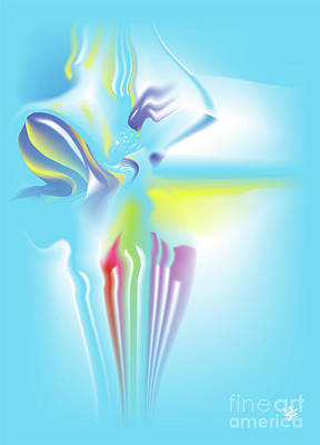Wall Art - Digital Art - Puakai - Abstract Art Print - Fantasy - Digital Art - Sea Flower - Fine Art Print - Flower Prin by Ron Labryzz
