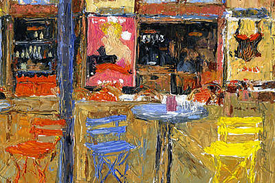 Painting - Spiler Pub In Gozsdu Court by Judith Barath