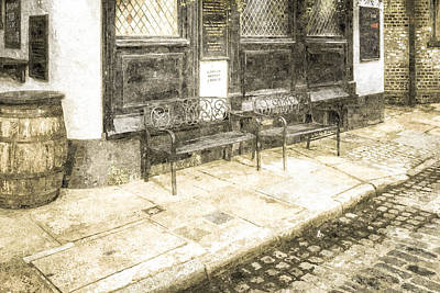 Beer Royalty-Free and Rights-Managed Images - Pub Resting Place Vintage by David Pyatt