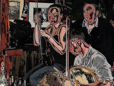 Pub Scene Three Art Print by Dave Luebbert