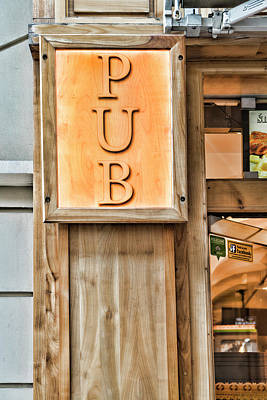 Photograph - Pub by Sharon Popek
